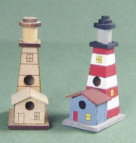 1:12 Lighthouse Birdhouse kit/ Dollhouse Miniature Birdhouse/ KBM T600 by SinnysMiniArt on Etsy https://www.etsy.com/listing/290861273/112-lighthouse-birdhouse-kit-dollhouse