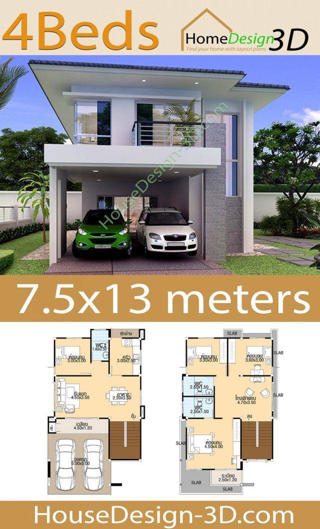 29+ Planos de casas de dos plantas en 3d ideas in 2021