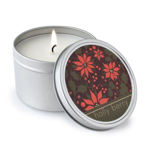 Crash Crash Holly Berry Soy Candle Tin
