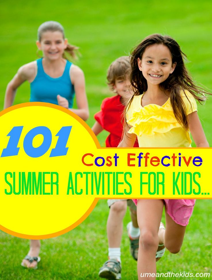 101 Summer Activities for Kids that won't cost the Earth!