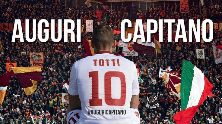 #AuguriCapitano #Totti #capitano #AsRoma #football #soccer