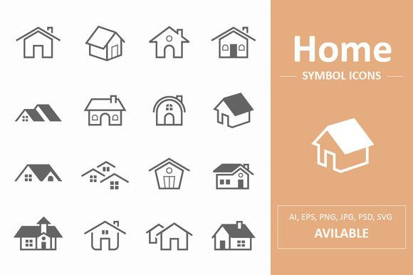 Home Symbol Icons by ctrlastudio on @creativemarket