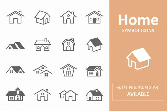 Home Symbol Icons by ctrlastudio on @creativemarket