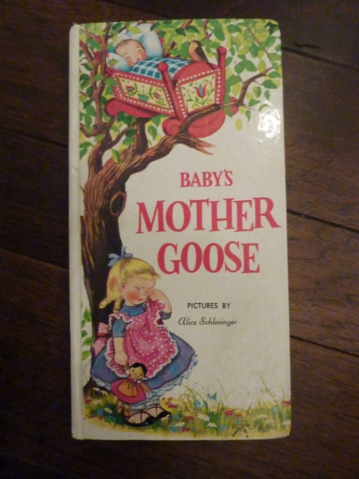 BABY'S MOTHER GOOSE 1989~VERY GOOD CONDITION~Pictures by Alice Schlesinger~HC