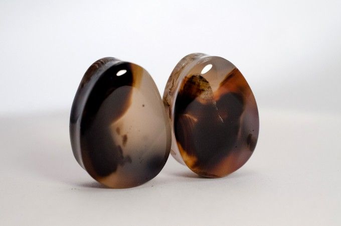 30 mm Montana Agate teardrops