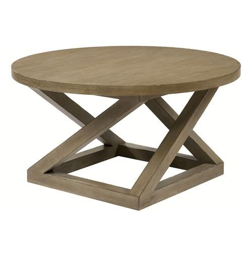 Modern Casual Distressed Taupe Grey Landon Cocktail Table