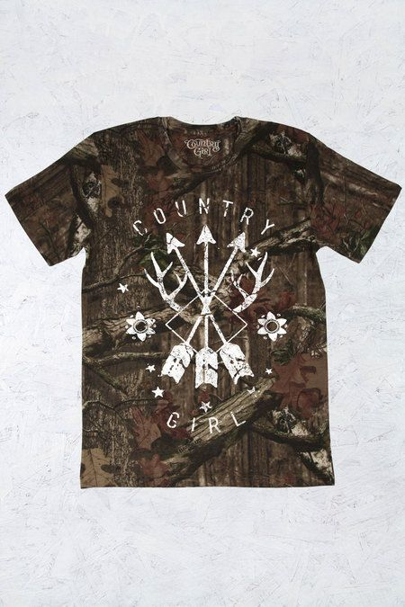 Women's Country Girl® Arrows Mossy Oak® Camo Tee | 5.5 oz., Officially Licensed MOSSY OAK 100% ringspun cotton print jersey