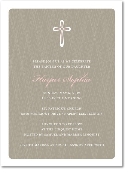 Baptismal invitation