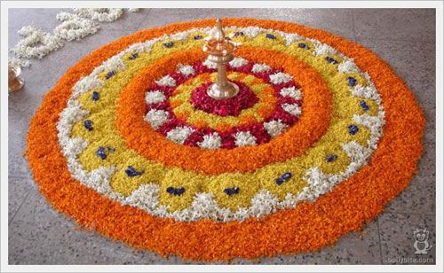 25 Most Colourful Rangoli Designs With Flowers