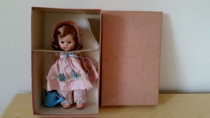 Vintage Vogue Strung Ginny Doll Frolicking Fables Series Mistress Mary 1951 box #Vogue #DollswithClothingAccessories