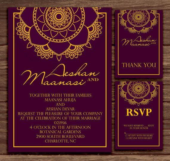 Purple Mandala: Wedding Invitation Suite     by MyBerryDesigns