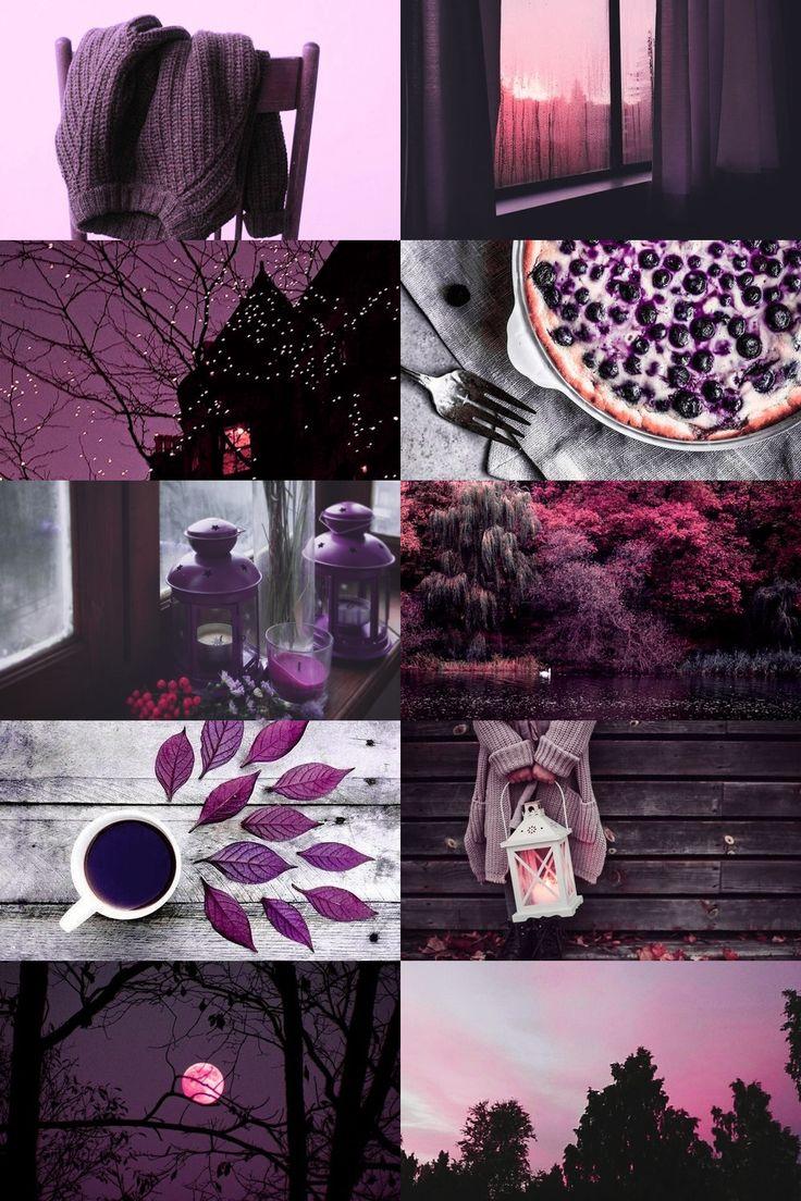 purple autumn aesthetic