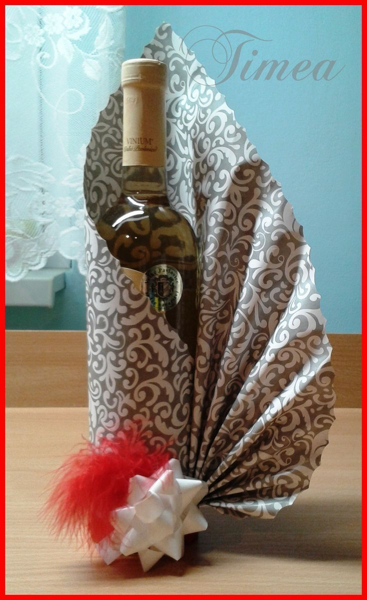 Wrap Ideen Pardubice | Bottle Gift Wrapping, Diy Gifts, Creative Gift ...