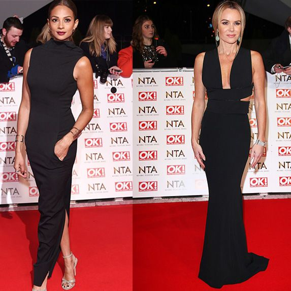 Britain's Got Talent judge Alesha Dixon proved you can rock skimpy, floor lemgth gowns post pregnancy with her bodycon high neck black Rick Owen gown. Similarly her BGT co-star & former judge Amanda Holden too rocked bodycon styling in the form of a Roland Mouret Aries maxi skirt and a Stella McCartney cut out crop top and all the while did so whilst catching the tube to the venue! Kudos to the yummy mummys!