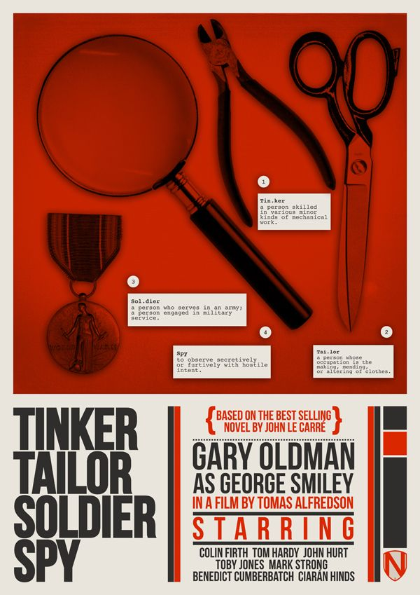 Tinker Tailor Soldier Spy (2011) ~ Minimal Movie Poster by Matt Needle #amusementphile