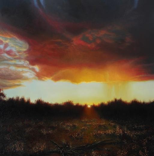 'Backyard Bliss'   2012 oil on canvas 91x91cm