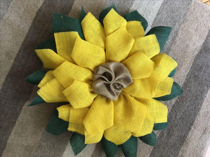 Sunflower burlap wreath https://www.etsy.com/uk/shop/Roseybuddles?ref=search_shop_redirect
