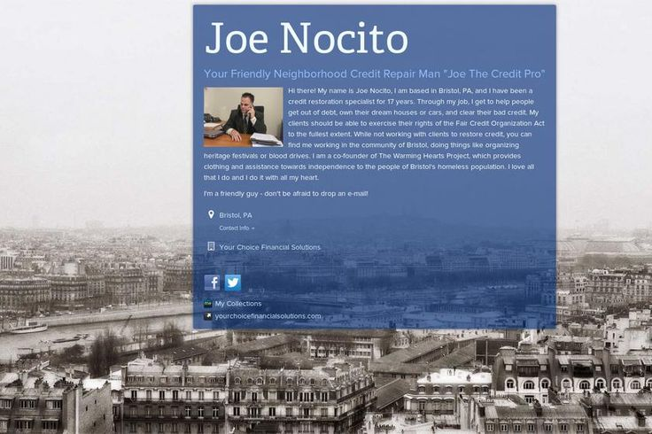 Turn Out >> Check out my about.me page! Joe Nocito | Joe the Credit Pro | Pintere…