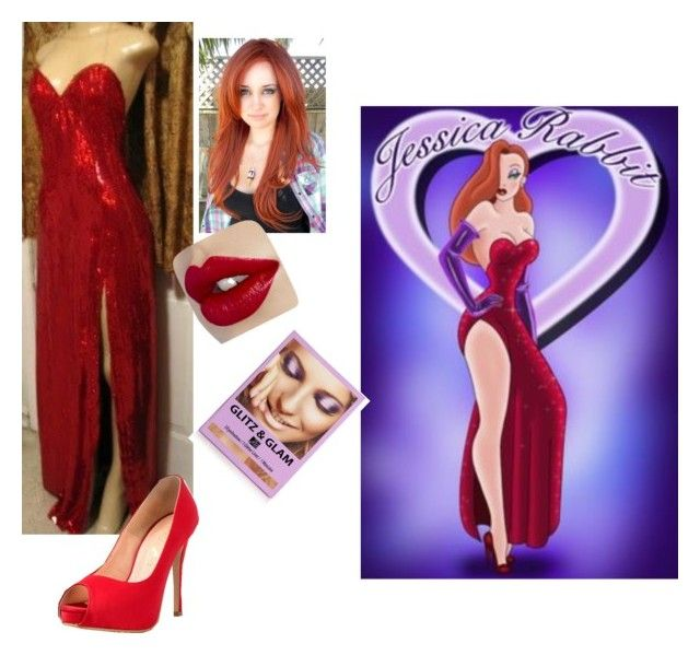 """""""Roger rabbits wife Jessica rabbit"""" by oncer21 ❤ liked on Polyvore featuring beauty and JustFab"""