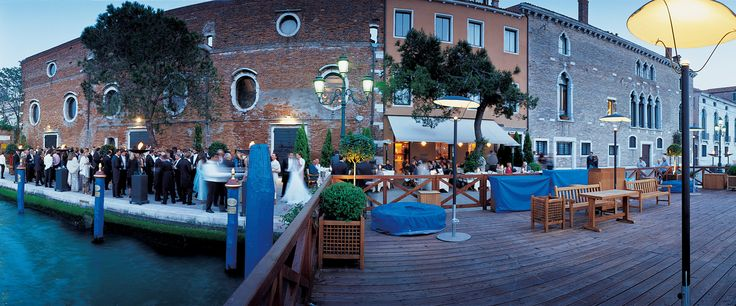 An external view of the Granaries of the Republic, the exclusive venue for fashionable events with a view of Venice