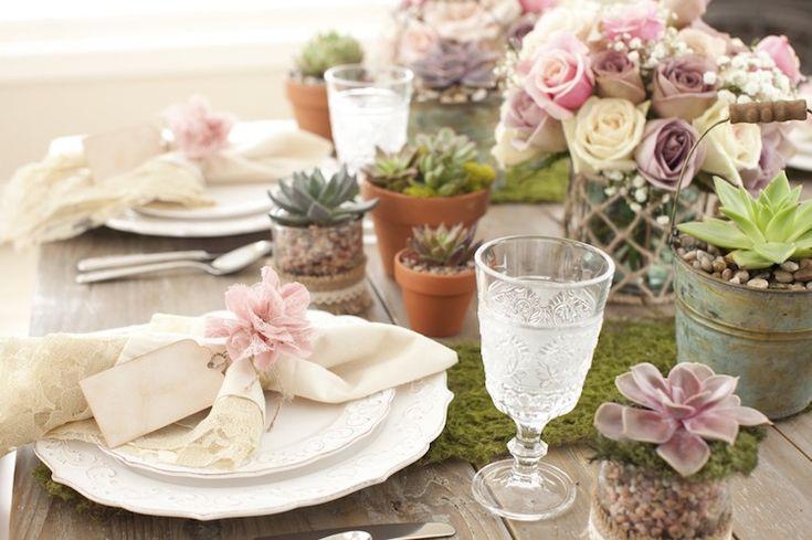 Les 25 meilleures id es de la cat gorie rustique chic sur pinterest apparence lim e table Mousse vegetale deco idees