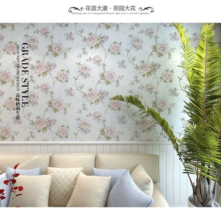 Европейской роскоши 3D стерео глубоко тисненые обои 3D цветочные обои фрески романтический цветочный гостиной спальне обои ролл купить на AliExpress
