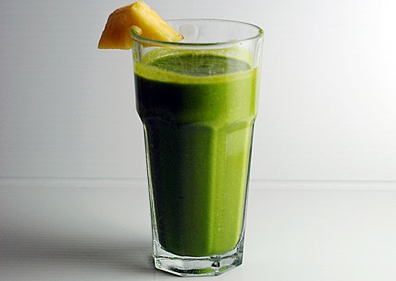 Ginger Cilantro Green Shake on http://www.elanaspantry.com