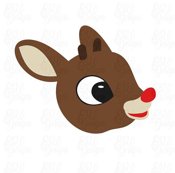 rudolph red nosed reindeer svg dxf file red nosed reindeer rudolph the red rudolph red nosed reindeer rudolph red nosed reindeer svg dxf file