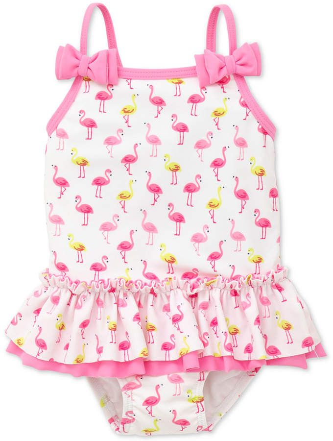 2cbaef3e12109 Little Me Flamingo-Print Swimsuit, Baby Girls   Products   Baby girl ...