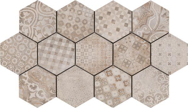 Coming Soon - REWIND Cementine Hex Decor #ceramstone #tile #porcelain #porcelaintile