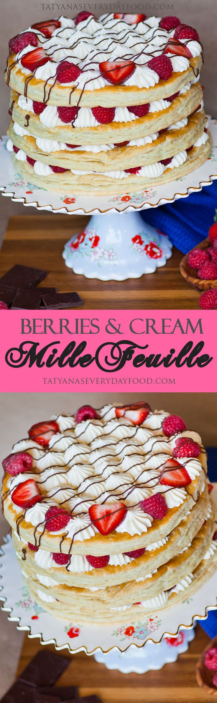 Berries and Cream Mille-Feuille Cake - Tatyanas Everyday Food