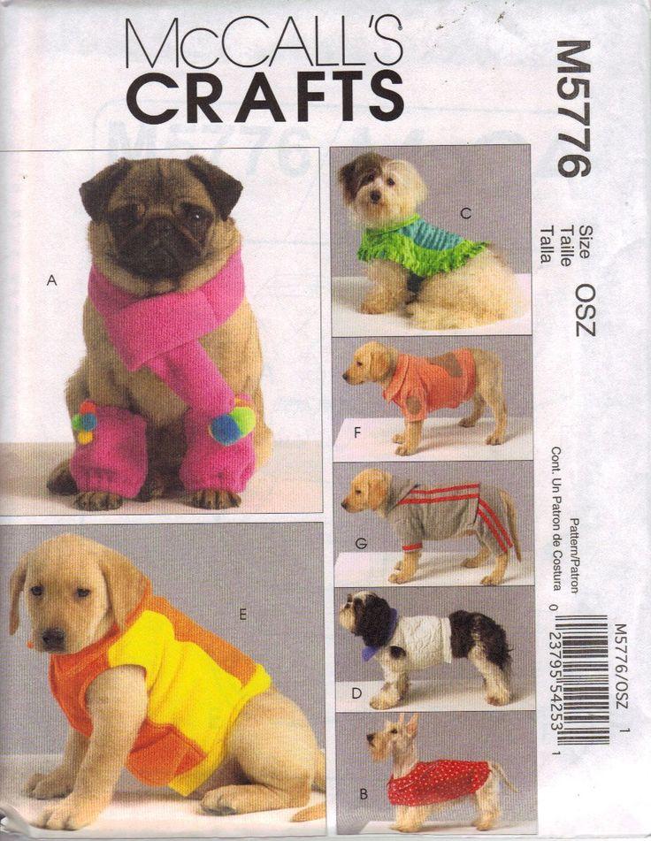 Mc Call's Schnittmuster 5776 Hundemantel,Pulli... Gr. S-M-L-XL (16-40 cm): Amazon.de: Küche & Haushalt