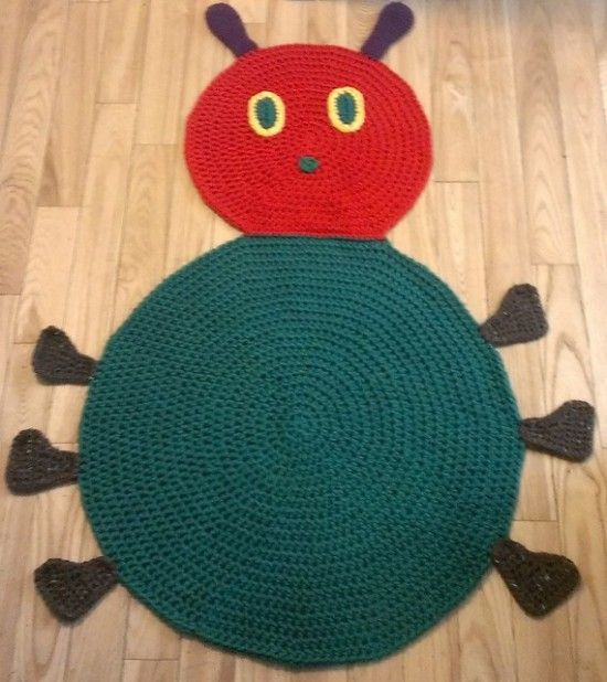 Crochet Caterpillar Bug Rug Pattern