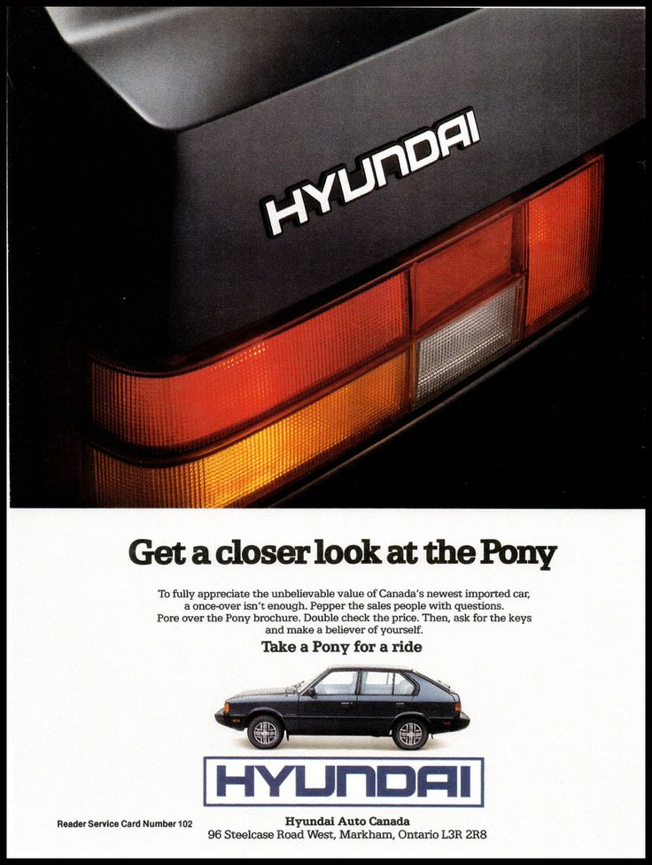 The First Pony Ad From 1984 ... http://blog.nobodydealslike.com/index.php/2015/06/29/did-you-know-that-hyundai-has-been-operating-in-canada-longer-than-in-the-u-s/ #Hyundai #Pony #Dilawri