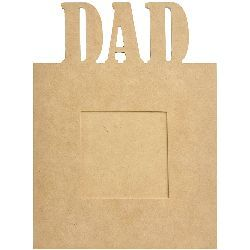 """""""Beyond The Page MDF Dad Frame-7.5""""""""X10""""""""X.5"""""""", 3.5""""""""X3.5"""""""" Opening"""" - ValuCrafts.com"""
