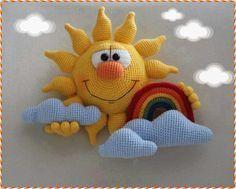 Örgü güneş ve bulut