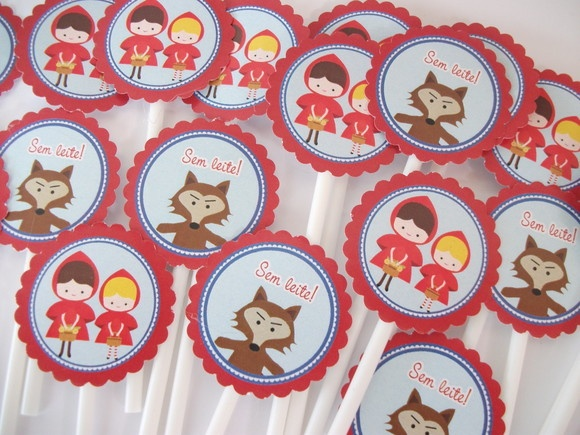 Toppers para doces e cupcakes: Little Red Riding Hood, For Sweet, Tema Chapeuzinho, Outro Tema, Outros Temas, Cupcakes Tema, Ems Outro, Cupcakes Rosa-Choqu, Sweet-To-Earth Bananas