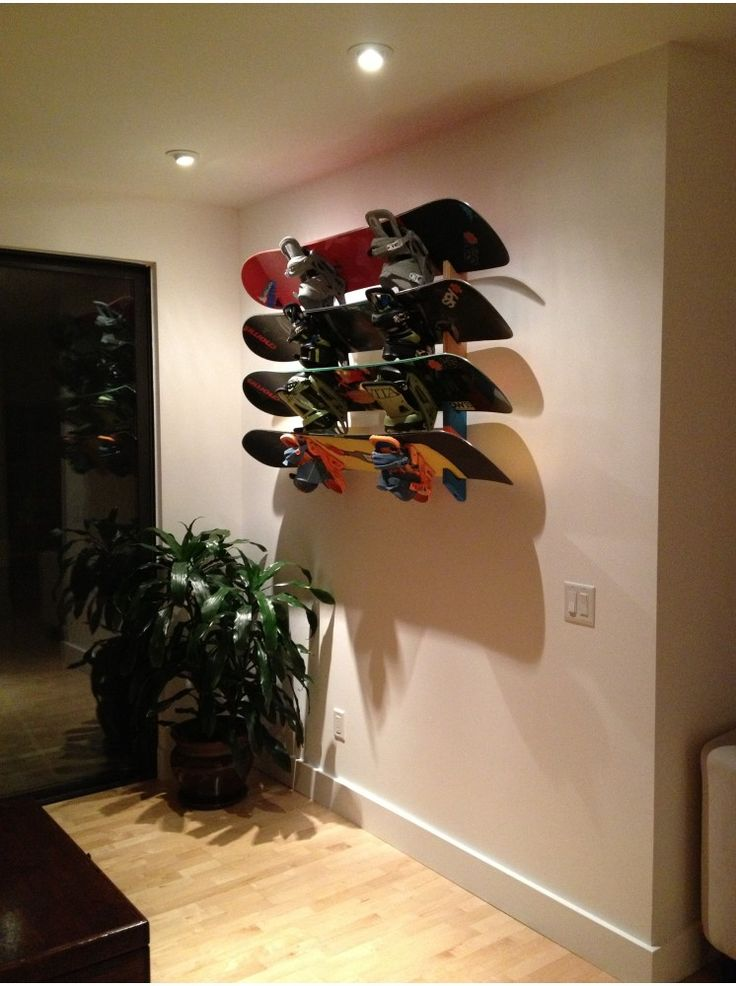 Snowboard rack  slotted wall mount in 2019  Skurf