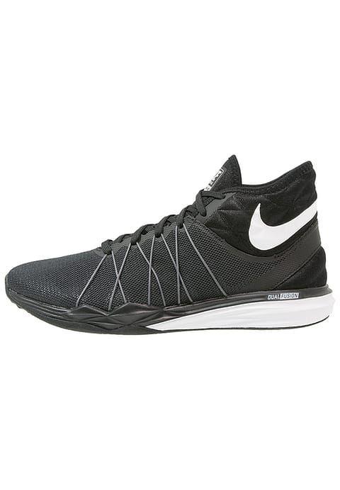 Nike Performance DUAL FUSION TR HIT - Scarpe da fitness - black/white/metallic dark grey/dark grey/pure platinum - Zalando.it