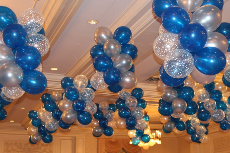 Balloon clusters over dance floor kari is 30 pinterest for Balloon cluster decoration