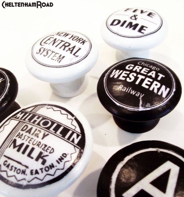 Customize Wooden Knobs Vintage Style