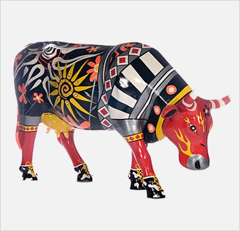 Boston Cow Parade- Ducko - Sandra DeCesare Blanc