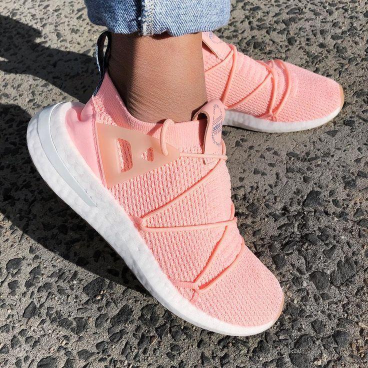 Deudor Destilar Enriquecer  adidas Arkyn Primeknit Shoes - Orange - SportStylist - 2018 - on foot  jeans. | Tennis shoe outfits summer, Sneakers fashion, Adidas shoes women