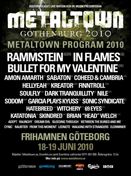Metaltown in Gothenburg 2010,  lots and lots of music (and some rain,too)