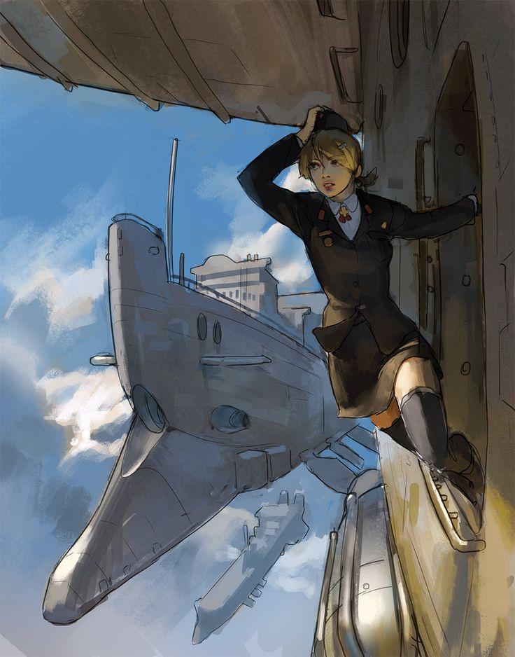 Air Ships, Tim Löchner on ArtStation at https://www.artstation.com/artwork/air-ships