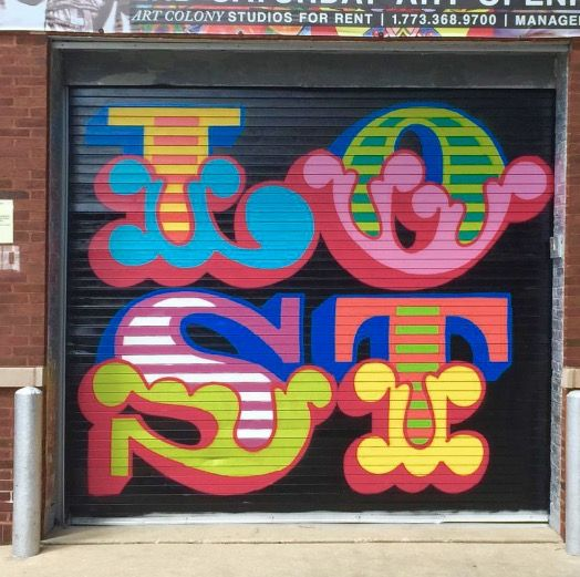 by Ben Eine in Chicago, IL, 8/15 (LP)