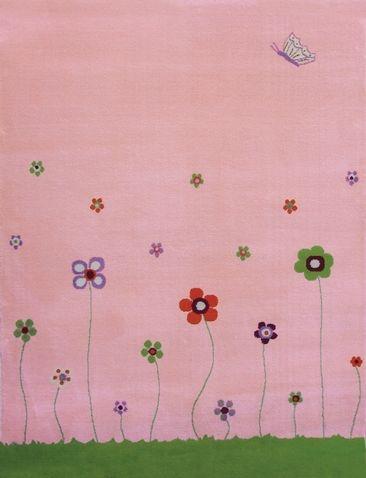 IVI Play Rugs:  Esta Flowers in pink