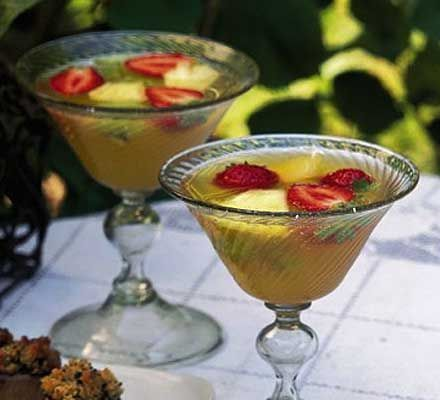 Non-alcoholic tropical fizz. The perfect thirst quencher for a summer drinks party - and it's alcohol-free