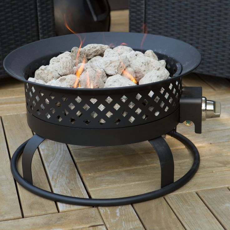 Bond 18.5 in. Portable Propane 50,000 BTU Campfire Fire Pit - Lightweight, sturdy, and ultra versatile you can use your Bond 18.5 in. Portable Bronze Propane Campfire Fire Pit on wood decks, or take it tailgating,...
