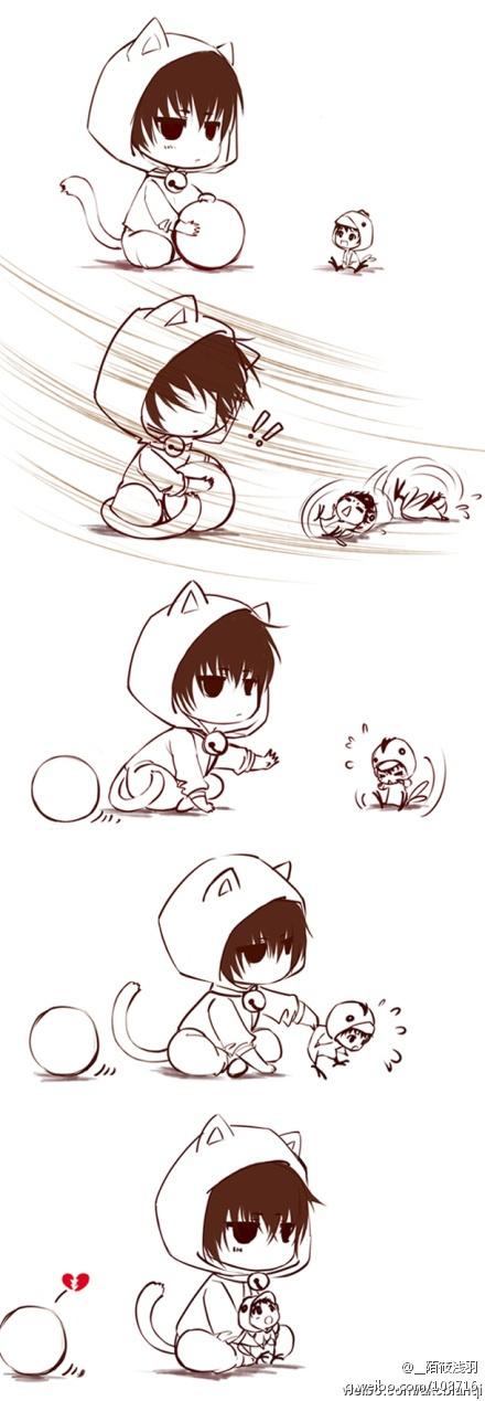how to draw a chibi neko boy